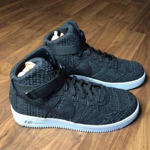 NEW Nike Airforce 1 Ultraforce High Flyknit Black